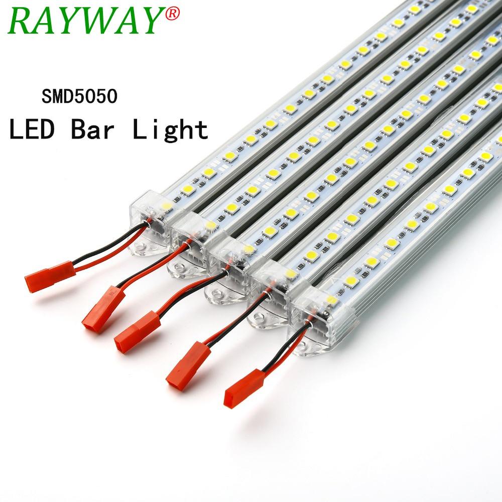 Led Strip Light Bar Dc12v 36 Leds Smd 5630 Hard Rigid Ridgid 4 Wire 220v Plug Wiring Diagram Rayway Barstrip Lights5pcs 50cmsmd 5050 White Warm Lights With U