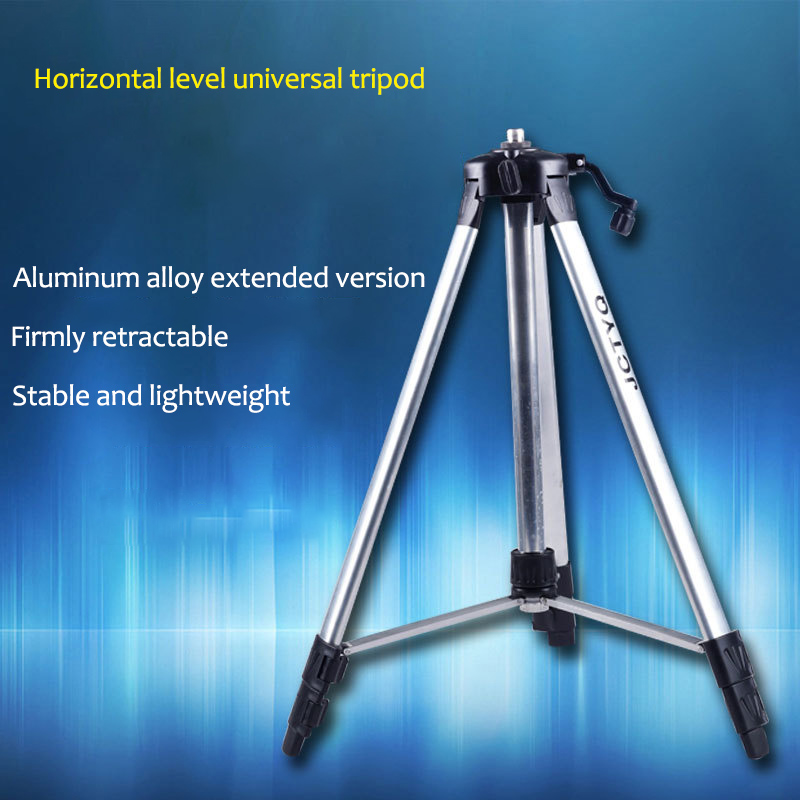 120cm 150cm Laser Level Tripod with Universal Joint Adapter Swivel Head Slash Function and Extension Rod for Adjustable Bracket firecore 1 4 turn 5 8 universal stainless steel tripod bracket adapter for laser level