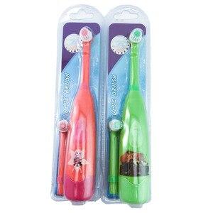 Image 4 - Escova de dentes elétrica infantil, padrão de desenhos animados, tipo cabeça, escova de dentes, para crianças, jovens