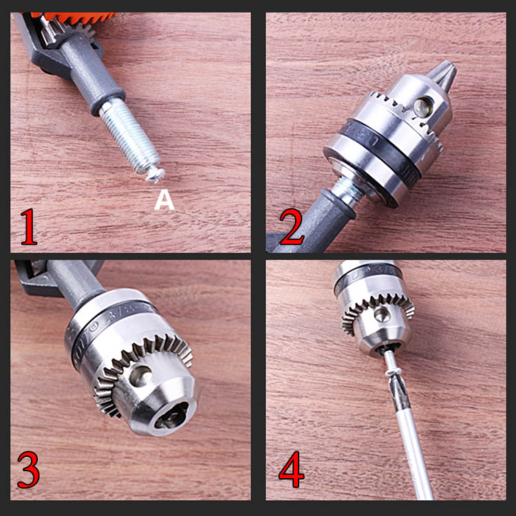 DIY Woodworking Drill Punch Reamer Plastic Steel Precision Casting Mini Hand Drills Rotary Hole Tool Teaching Supplies CLH