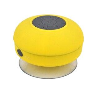 Image 4 - ミニポータブルサブウーファーシャワーワイヤレス防水の bluetooth スピーカーのハンズフリーコール音楽サクションマイク iphone サムスン