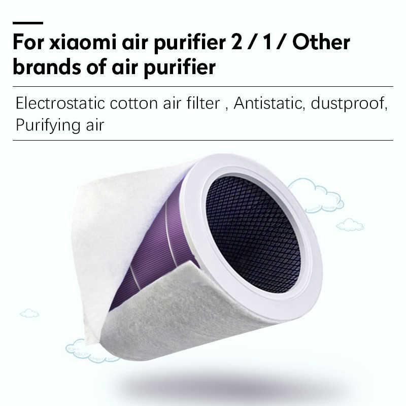 10 個の静電綿アンチダスト空気清浄機用 xiaomi mi 1/2/2 s hepa エアフィルターユニバーサル空気清浄機 PM2.5