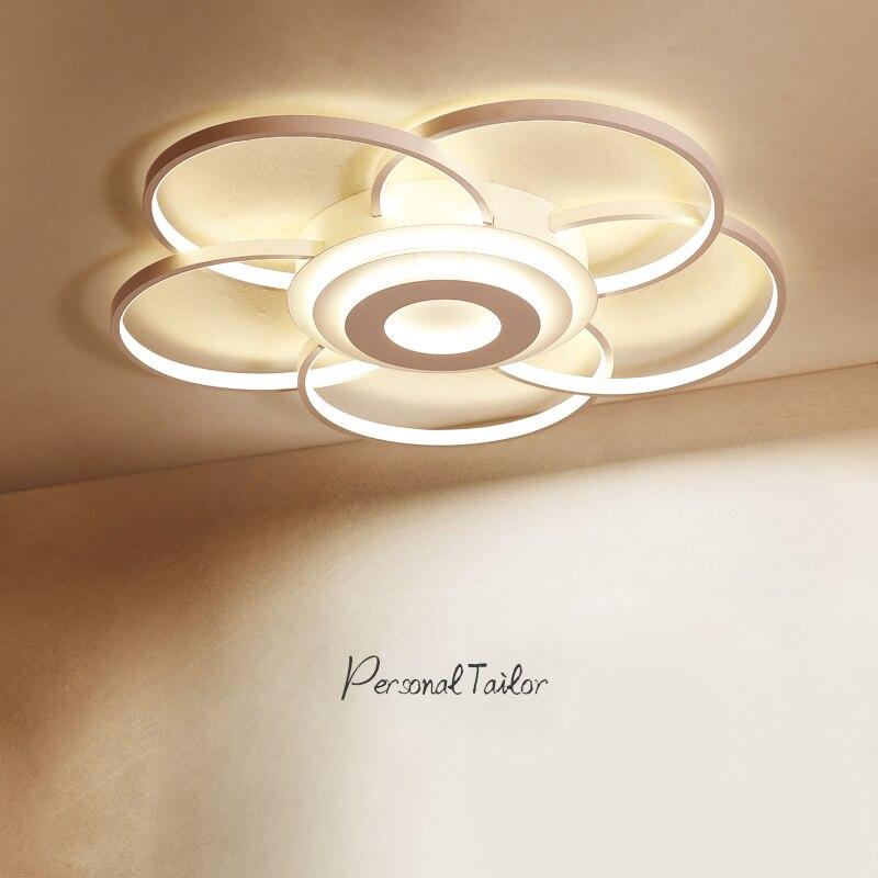 Здесь можно купить  LED Ceiling Lights Lamp Modern for Living room Bedroom flower shape Aluminum Wave AC90-265V Mountedd Modern LED Ceiling Lamp  Свет и освещение