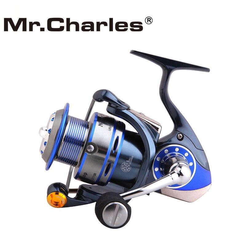 M. Charles n'arrête jamais 2500/3000/3500 moulinet de pêche en rotation, système de traînée arrière moulinet de pêche à la carpe