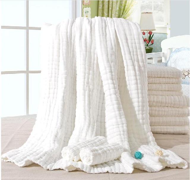 Baby Infant Bath Towel Microfiber Bathrobe Towel Ultra Children  Kids Bathroom Towel Gauze Newborn Swimming Towel Blanket Set