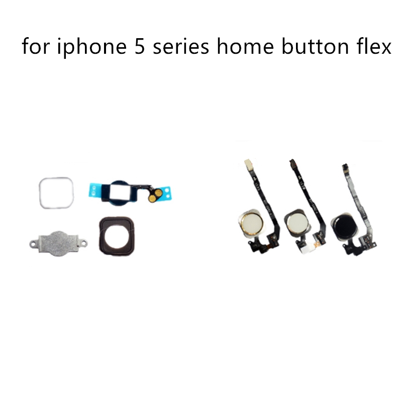1Pc Home Button With Flex Cable For IPhone 5 5C 5S SE Replacement Assembly With High Quality