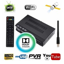 Tamaño Mini DVB-S2 HD Digital Satélite Receptor Combo IPTV Set Top CAJA IPTV Apoyo m3u Subir WIFI Cccam IKS VU de Energía Clave Newcam