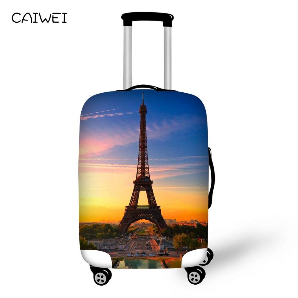 Чемодан Защитная крышка для 18-30 дюймов Чехол Париж Эйфелева башня печати эластичный стрейч чемодан Дорожный Чехол аксессуары