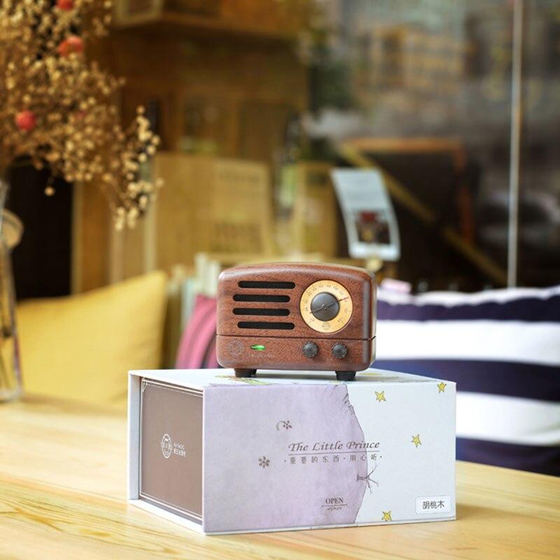 ICL classique roi petit Prince OTR Bluetooth haut-parleur FM radio bois Mini lecteur de musique sans fil audio MW-2 pour PC téléphone portable - 5