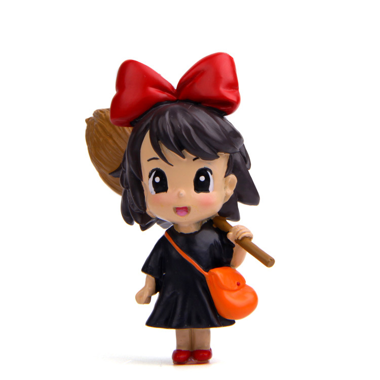 6.5cm Action Figure Toys Kiki's Delivery Service KiKi PVC Action Figure Toys for Girls new kiki gigi bakery kiki s delivery service reconstruction animiation action figure doll house kid toy miniature diorama model