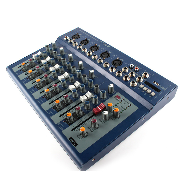 F7 7 channels mixer with reverberation USB microphone professional home singing KTV performance effects mixer consoleF7 7 channels mixer with reverberation USB microphone professional home singing KTV performance effects mixer console