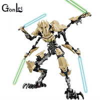 NEW KSZ Star 7 Wars General Grievous With Lightsaber Storm Trooper W Gun Figure Toys Building