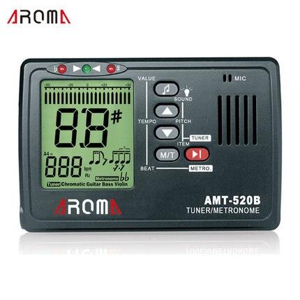 Aroma AMT-520B-metrónomo y sintonizador para cromático, guitarra, bajo y violín