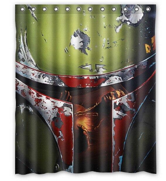 Star Wars Poster Yoda Death Star trooper Printed Polyester Shower ...