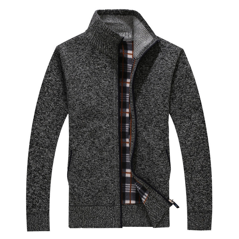 2017 autumn and winter new wool coat Men s casual cashmere cardigan jacket Fashion collar collar