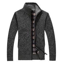 2017 г. осенние и зимние новые шерстяное пальто Для мужчин Повседневная кашемир куртка-кардиган модные воротник мужчин толстый свитер