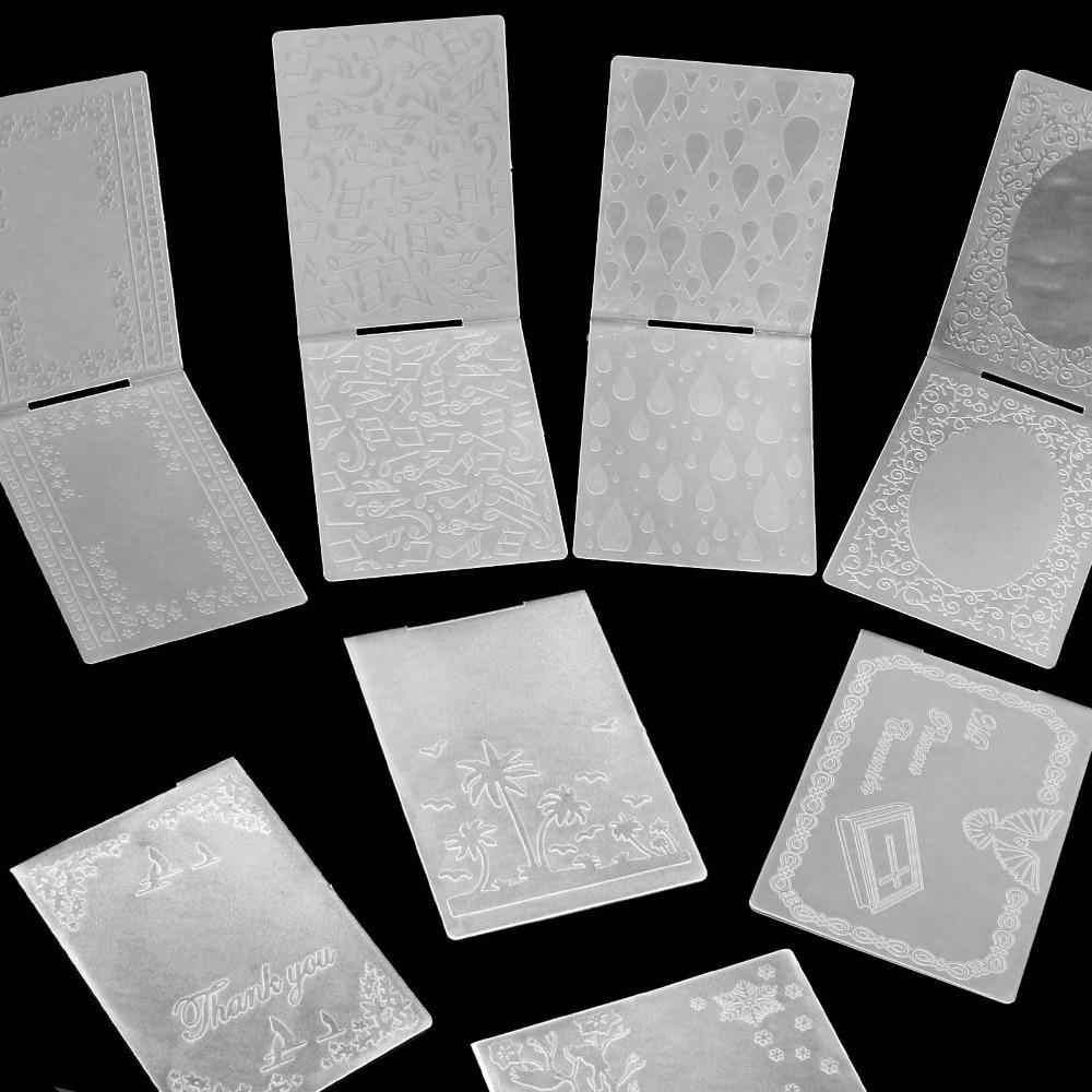 2019 nova chegada scrapbook dot design diy corte de papel dados scrapbooking plástico tamanho pasta de gravação 10.5*15.5cm
