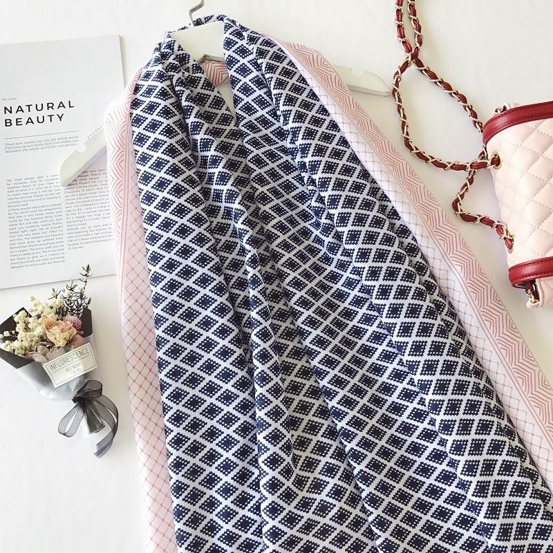 qadın yay eşarpları çiçəkli eşarp şal sarğı pashmina - Geyim aksesuarları - Fotoqrafiya 5