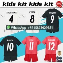 2de2b088c 18 19 kids Real madrid Home away Kits RONALDO ASENSIO MODRIC BALE RAMOS ISCO  NAVAS KROOS BENZEMA child 13 championships