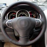 Black Artificial Leather Car Steering Wheel Cover For Suzuki Grand Vitara 2007 2013