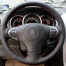 Negro de Cuero Artificial Cubierta Del Volante Del Coche para Suzuki Grand Vitara 2007-2013