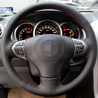 Black Artificial Leather Car Steering Wheel Cover For Suzuki Grand Vitara 2007 2013
