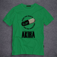 Japanese Anime AKIRA Capsule T Shirt Mens Design Printing Cotton T Shirt Custom Tee S 5XL