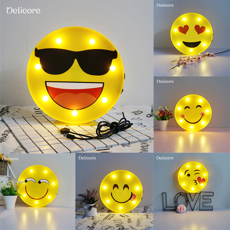 Delicore Novelty Cool Face Night Light Children Bedroom