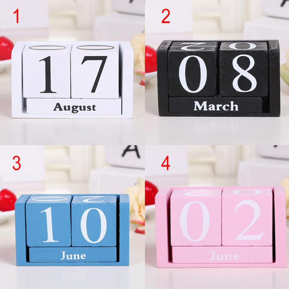 Wondrous Vintage Wooden Advent Table Desk Calendar Wood Block Planer Permanent Desktop Organizer School Beutiful Home Inspiration Truamahrainfo