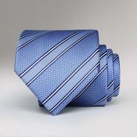 men bow tie formal suits necktie light blue striped business bowtie wedding groom necktie for men gentleman ties with gift box