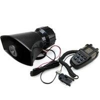 free shipping 12V 80W 7 Tone Sound Car Siren Vehicle Horn Car Siren Speaker&Mic PA Speaker System Emergency Sound Amplifier