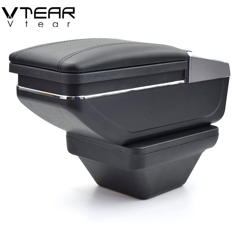 Vtear for MG ZS armrest box central Store content box products interior Armrest Storage car styling