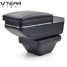 Vtear-Reposabrazos de cuero para MG ZS, caja de almacenamiento giratoria, accesorios para coche, consola central, decoración, auto 2019