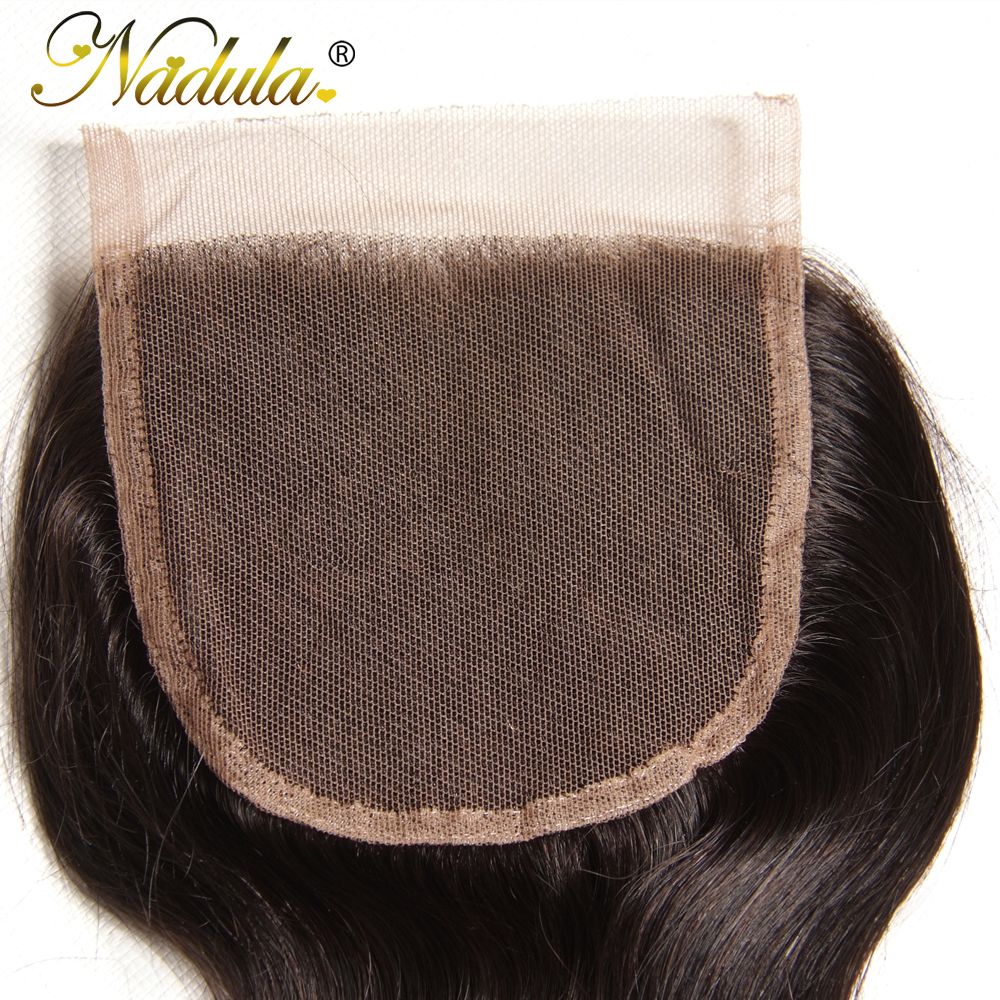 Nadula Body Wave Bundles With 4*4 Free Part/Middle Part/Three Part Lace Closure Indian Hair  Hair Bundles With Closure 6