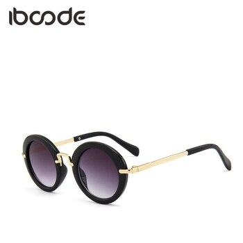 iboode Black Floral Round Sunglasses Cut...