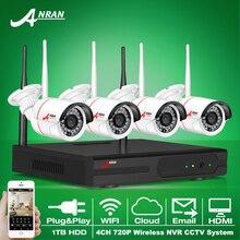 Nuevo Anuncio Anran Kit NVR P2P Plug and Play cámara Inalámbrica 720 P HD Visión Nocturna Por INFRARROJOS al aire libre Cámara IP WIFI CCTV de Seguridad Del Sistema 1 TB HDD