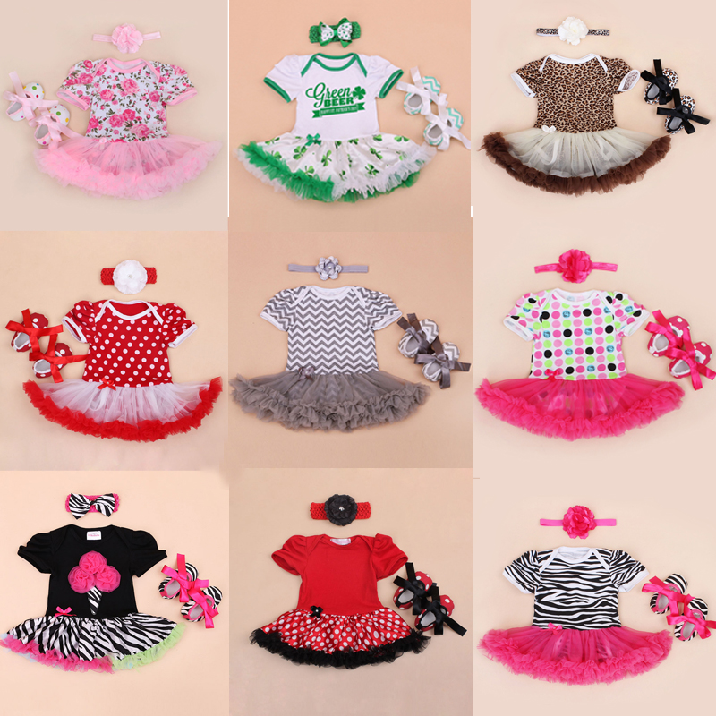 Xmas Baby Girl Infant Newborn Clothing Sets Santa Claus Tutu Romper Dress & Jumpersuit Christmas Bebe Birthday Costumes Vestidos cupcake birthday outfits leopard baby romper dress headband shoes infant lace tutu set roupa bebe menina winter girl clothes