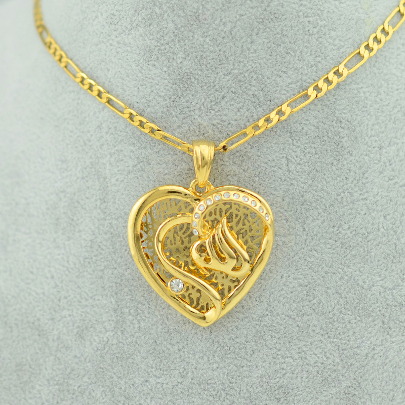 Heart allah necklace pendants women girl islamic jewelry muslim arab heart allah necklace pendants women girl islamic jewelry muslim arab imam ali link chain in pendant necklaces from jewelry accessories on aliexpress aloadofball Images