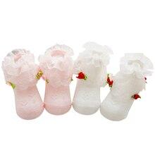 Fashion Flower Infant Baby Socks Gifts Princess Newborn Cotton Lace Socks