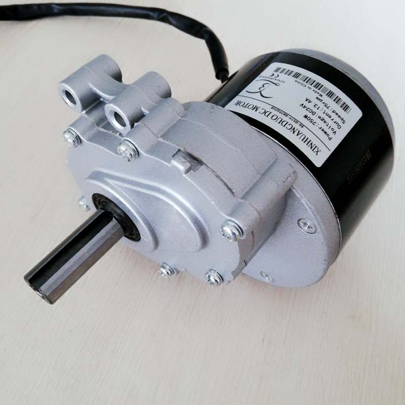 250w 24v 75rpm or 120rpm low speed brush motor 44mm Longer shaft Shaft Diameter 17mm wheel