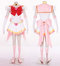 2017 New Anime Sailor Moon Chibiusa Cosplay Costume Sailor Chibi Moon Carnaval/Halloween Costumes for Women/Kids Custom Any Size цена в Москве и Питере