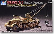 Trumpeter 1/72 scale model 07253 Sd.Kfz.9 / 1 18-tonne semi-crawler crane