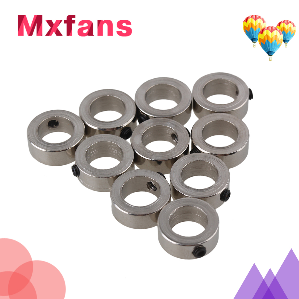 Mxfans 10PCS 8.05 mm Metal Bushing Axle Stainless Shaft Sleeve w/ screw Fit 8mm Motor