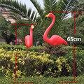 フリーシッピング 1 ペアプラスチックフラミンゴ庭の装飾と芝生の装飾結婚式の装飾