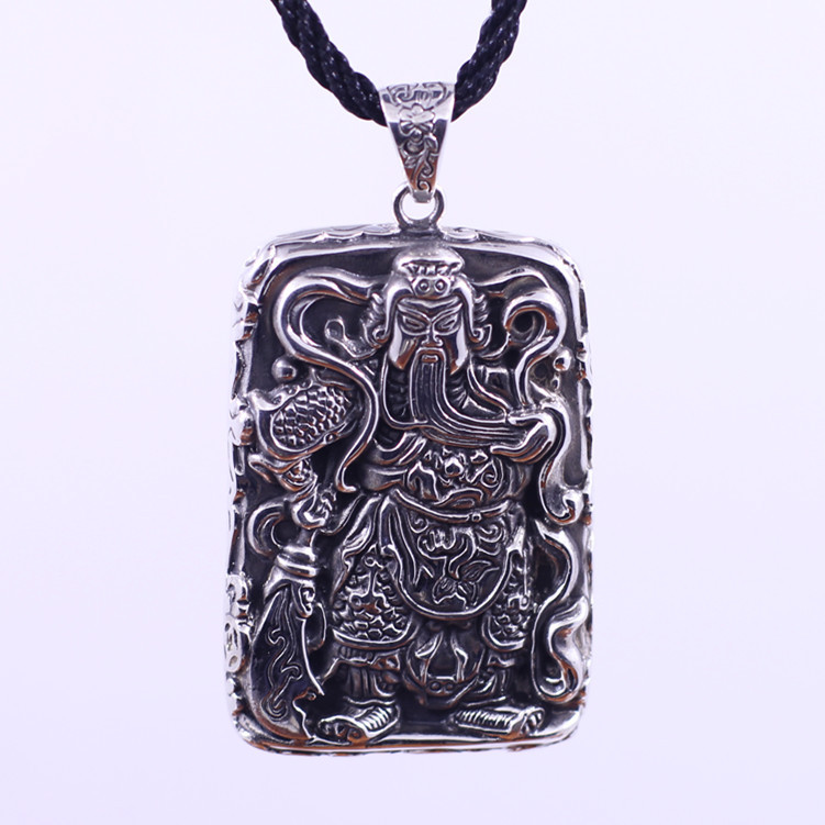 S925 Silver Pendant personality Unisex Guan happiness free shipping помада make up factory make up factory ma120lwhdq67