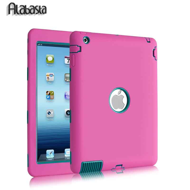 Alabasta For iPad 2/3/4 Cover Shockproof  Kids Protector Case PC+ Silicone Hybrid Robot Protect Screen Protector Film+Stylus Pen alabasta cover case for apple ipad air1