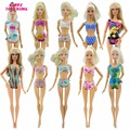 Free Shipping 5 Sets Fashion Swimsuits Beach Bathing Swimwear  Outfits For Barbie Doll Best  xMas Gift Baby Toy
