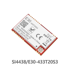 цена на SI4438 433MHz RF TCXO Module ebyte E30-433T20S3 SMD Serial Port Wireless Transceiver 100mW 2500m Long Range IPEX Connector