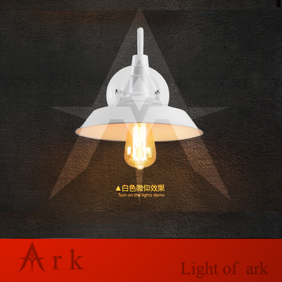 ARK LIGHT American vintage nostalgic DIA 26CM IRON led sconce light classical wall LAMP COFFEE HOUSE  DINING ROOM