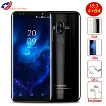 "Blackview S8 4G Smartphone 4 Caméras 4 GB + 64 GB MT6750T Octa base D'empreintes Digitales 5.7 ""18:9 Aspect Ratio Infinity Écran Mobile Téléphone"